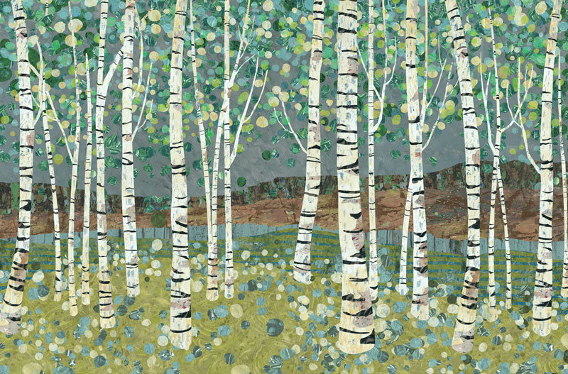 Birch Forest Repeating pattern