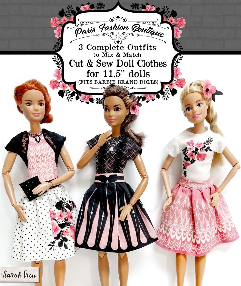 68a00981df NEW! Cut   Sew Doll Clothes for 11.5″ dolls (aka Barbie size)